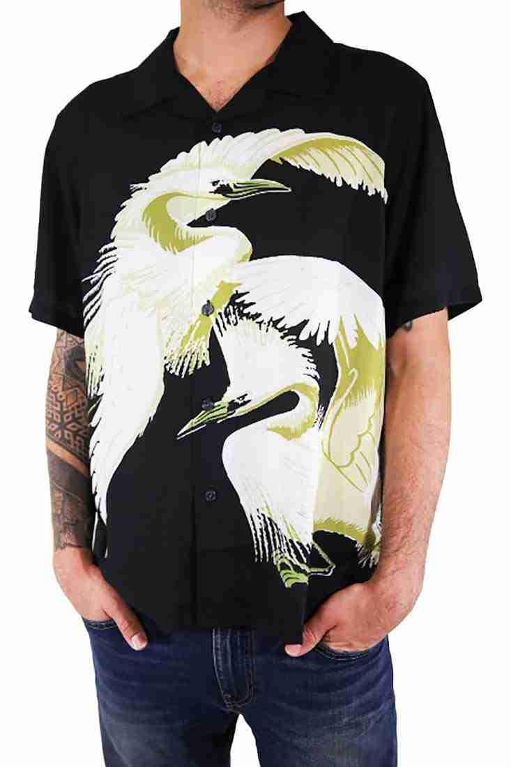 Stussy Hemd Kurzarm Big Crane Shirt