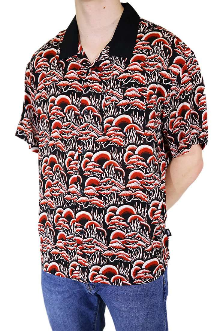 Stussy Hemd Kurzarm Coral Pattern Shirt