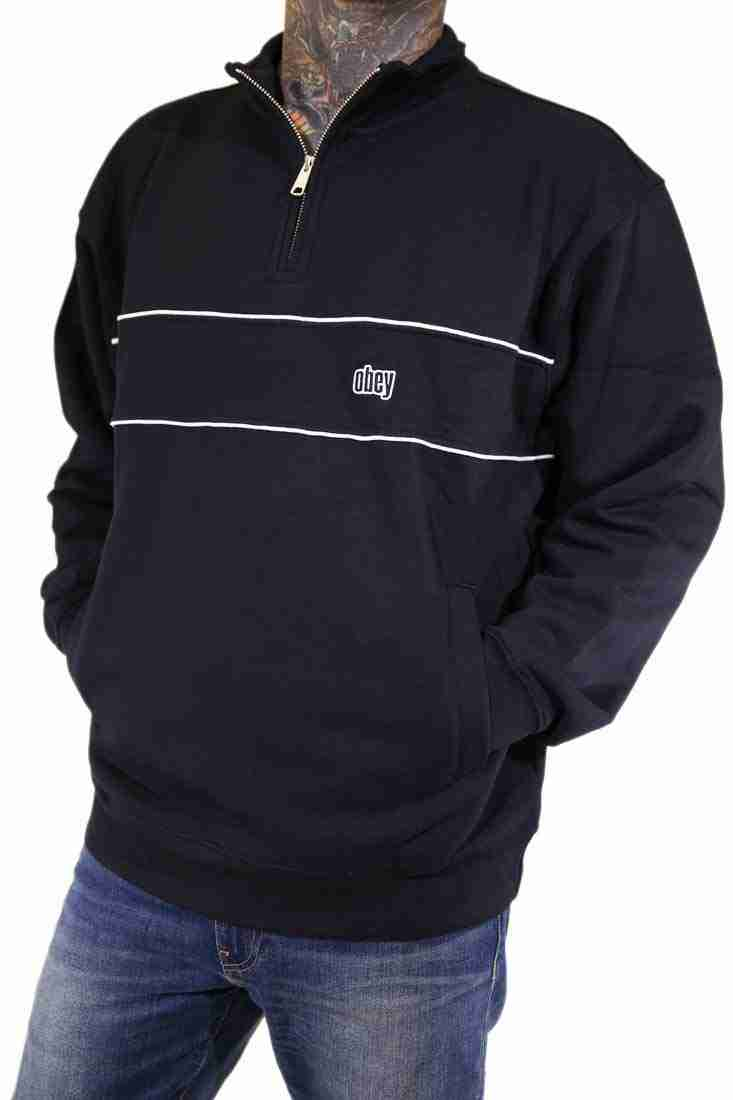 Obey Sweater Crew Johnny Mock Neck Zip