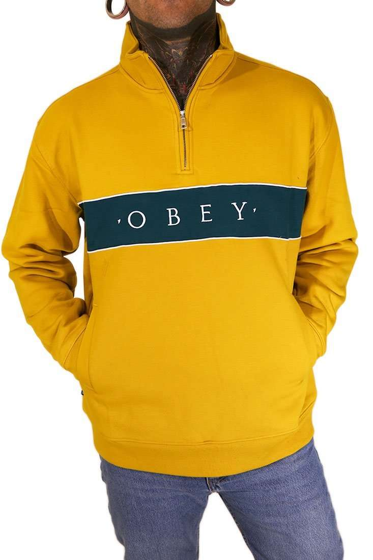 Obey Sweater Crew Deal Mock Neck 14 Zip
