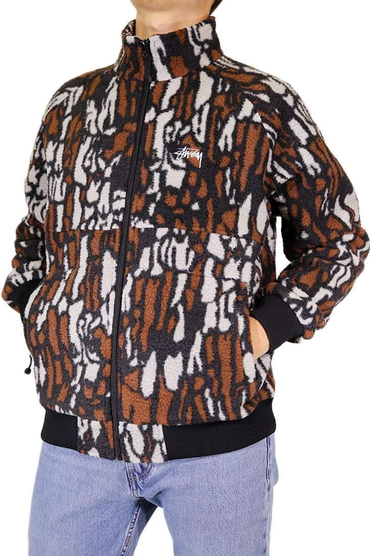 Stussy Weste TREE BARK FLEECE JACKET