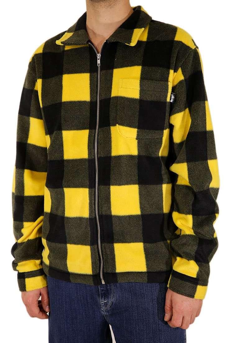 Stussy Hemd Langarm Polar Fleece Zip Up Shirt