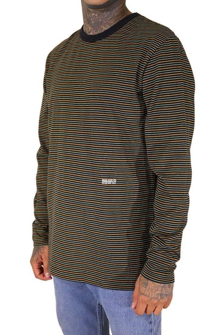 Wood Wood Langarm T Shirt Viggo
