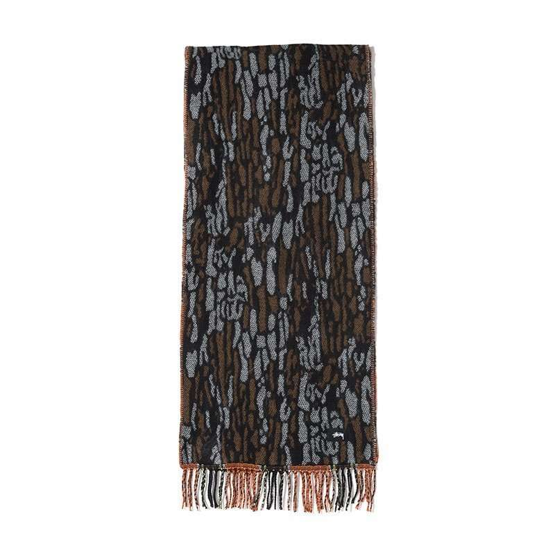 Stussy Divers Tree Bark Wool Scarf