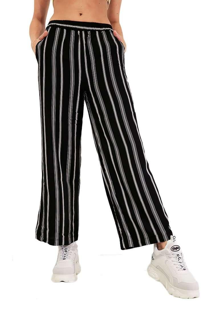 Wemoto Damen Stoffhose Cilia Printed Wide Leg