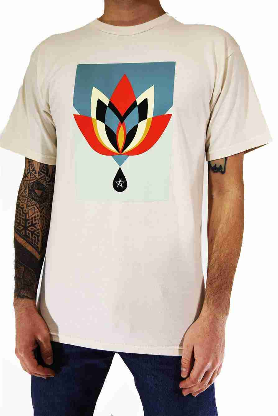 Obey T Shirt Obey Geometric Flower