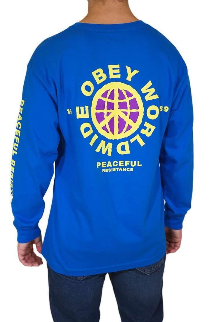 Obey Langarm T Shirt Peaceful Resistance