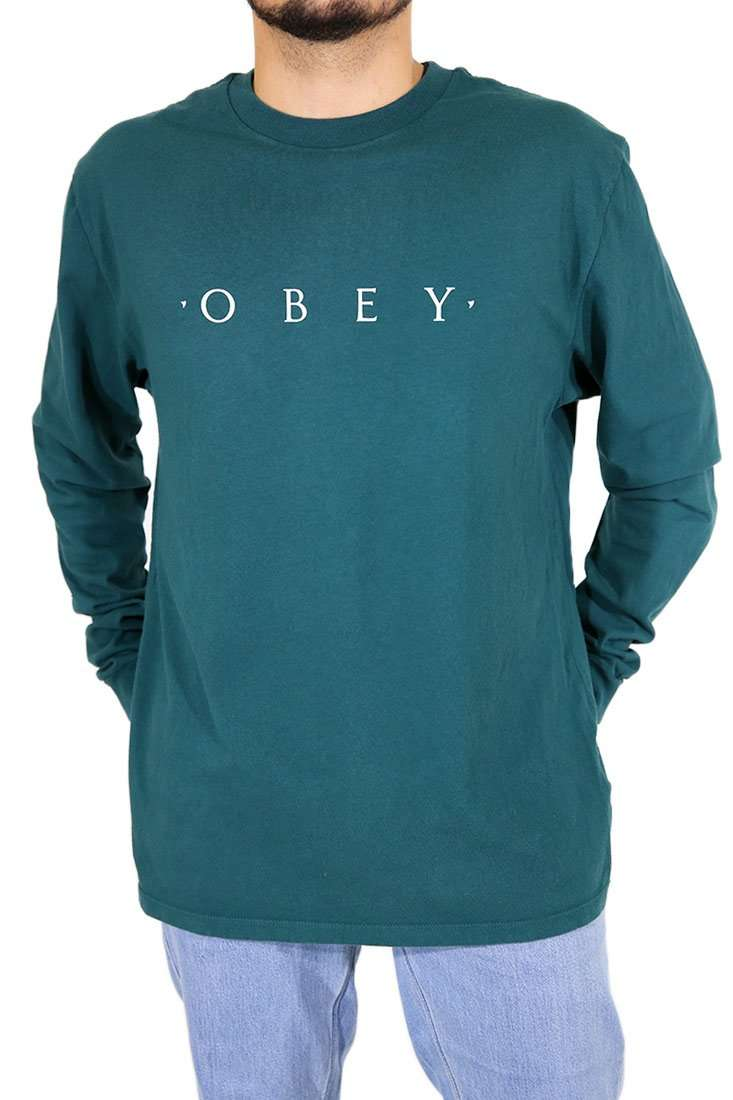 Obey Langarm T Shirt Novel Pigment Dyed