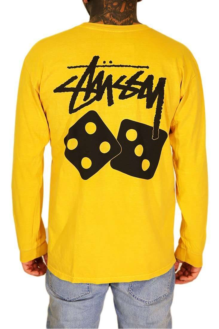 Stussy Langarm T Shirt Dice Pigment Dyed