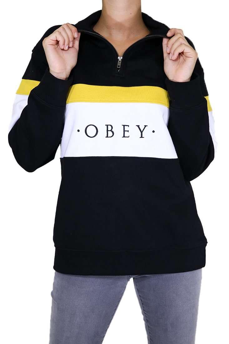 Obey Damen Pullover Lassen Half Zip