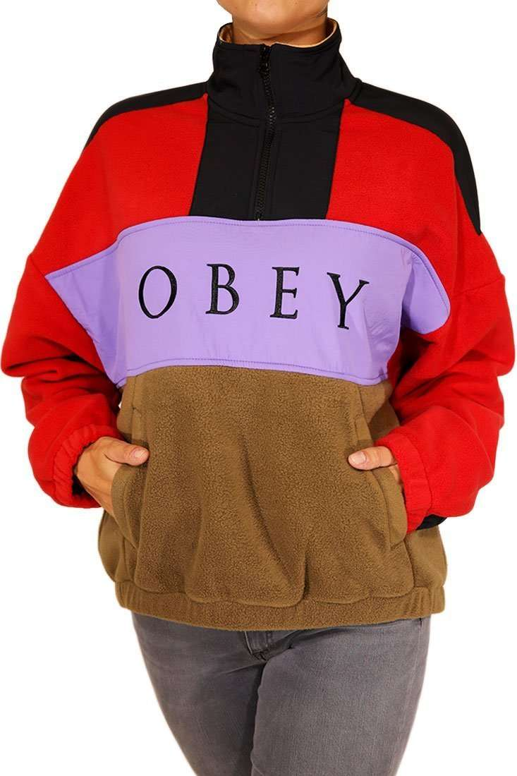 Obey DA Pullover Alpine Polar Anorak Fleece
