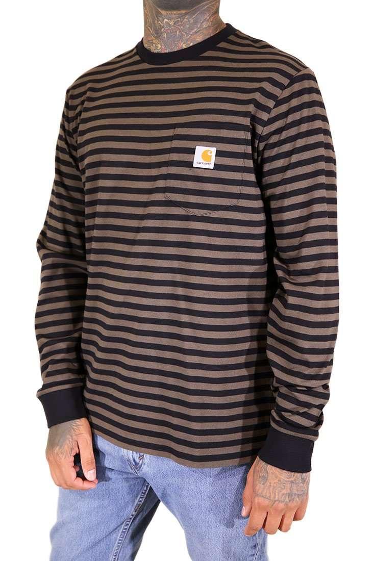 Carhartt WIP Langarm T Shirt Haldon Pocket Stripe