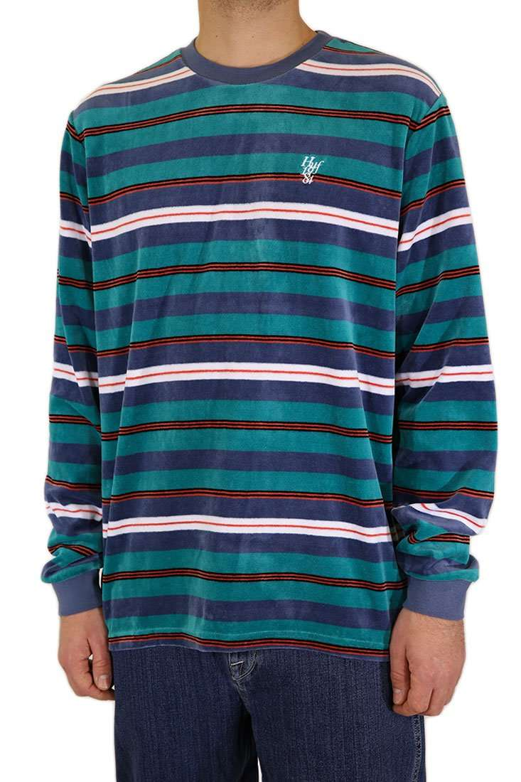 Huf Sweater Crew Unveil Stripe Velour
