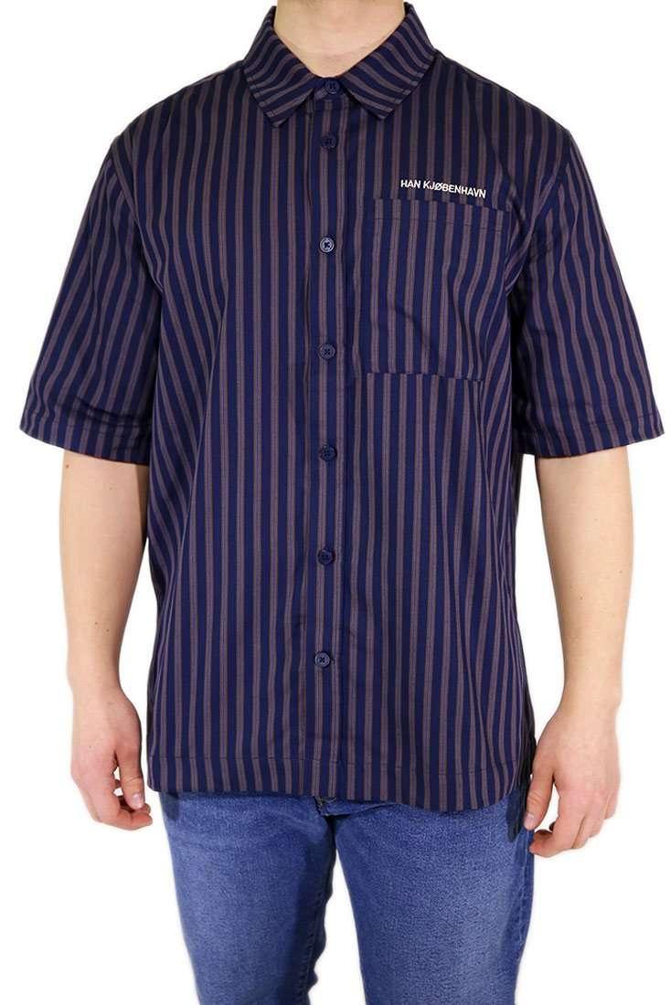 Han Kjobenhavn Hemd Kurzarm Boxy Shirt
