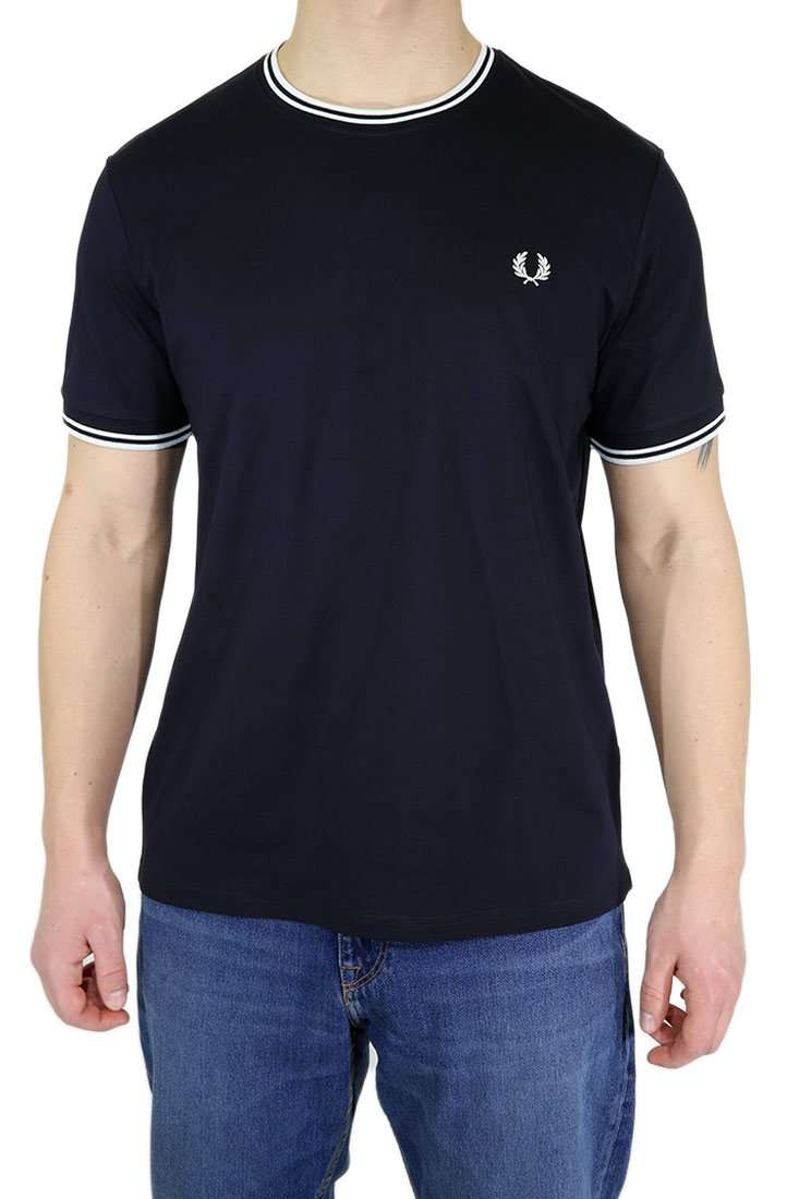 Fred Perry T Shirt M1588 Twin Tipped Tee