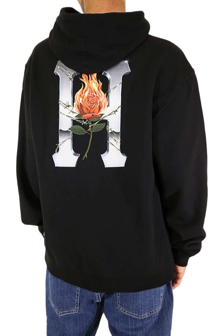 Huf Hooded Sweater Ember Rose Classic H