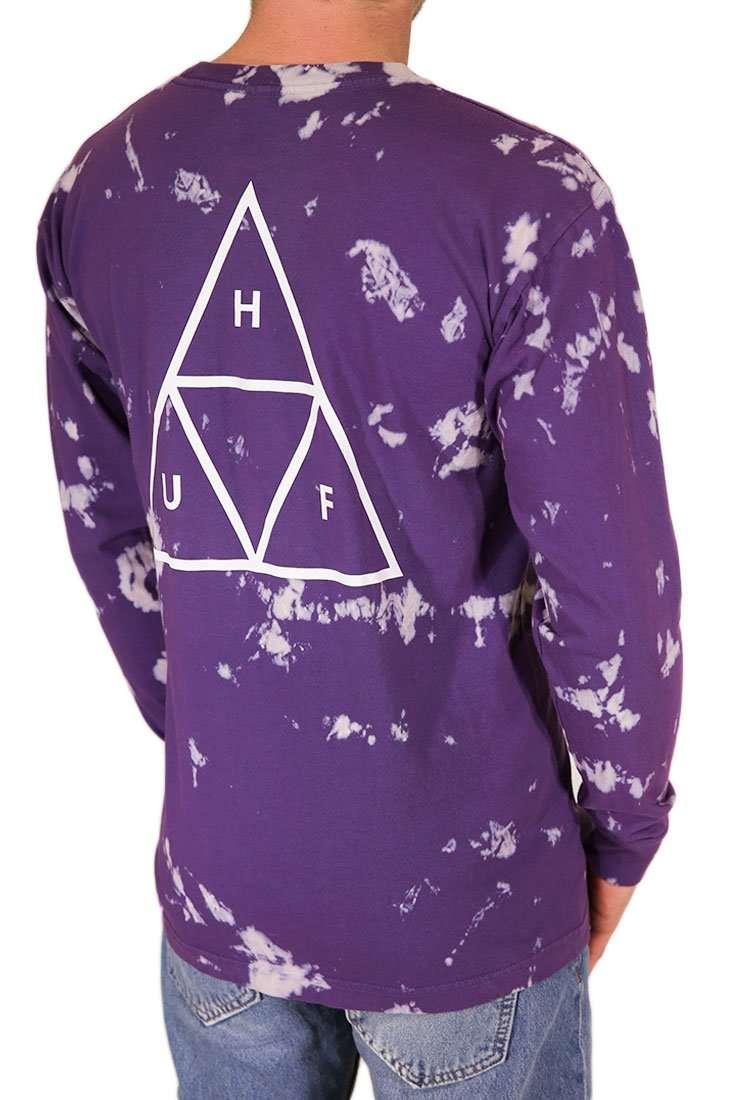 Huf Langarm T Shirt TT Worldwide Tie Dye
