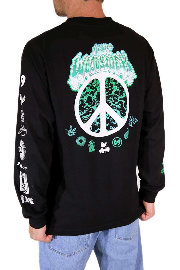 Huf Langarm T Shirt Woodstock Loaded