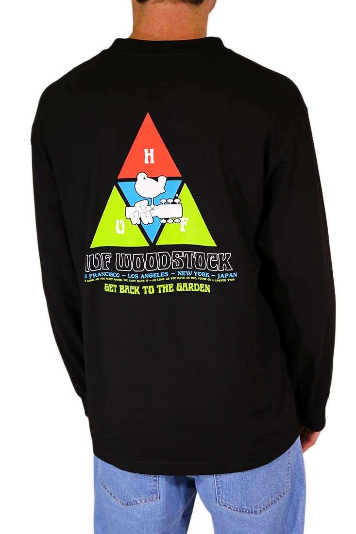 Huf Langarm T Shirt Woodstock Peaking