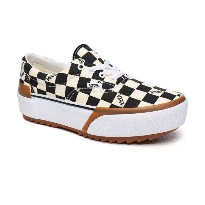 Vans Damen Classic Sneaker Era Stacked Checkerboard